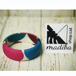 Wax fabric bracelets