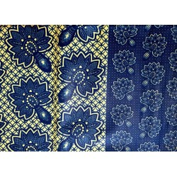 African Wax Fabric Blue...