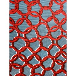 Tela Wax africana corda vermella en fons blau