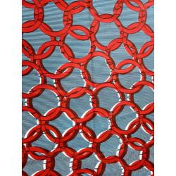 Tela Wax africana cuerda roja en fondo azul