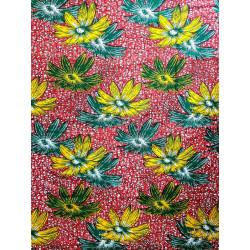 Tissu de wax africain Fleurs d'été