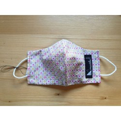 Reversible cloth face mask with beautiful pink fabric 100% cotton