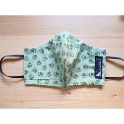 Reversible cloth face mask with beautiful fabric animal print