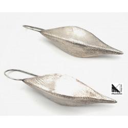 Arracades de plata elegants