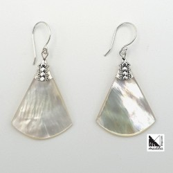 Triangle shapped silver and...