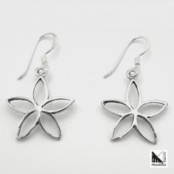 Pendientes de plata - flor