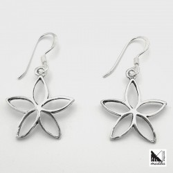 Silver Earrings - flower