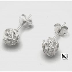 Pendientes de plata - hilo enrollado