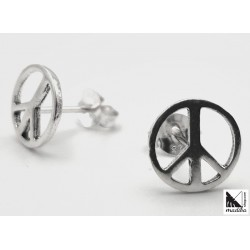 Silver earrings  - Peace...