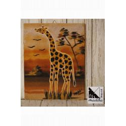 Art sur sable de Mami - girafe