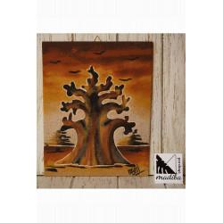 Art sur sable de Mami - Baobab