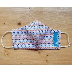 Reversible cloth face mask - tribal 100% cotton