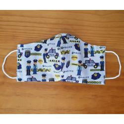Masque réversible - Police 100% coton