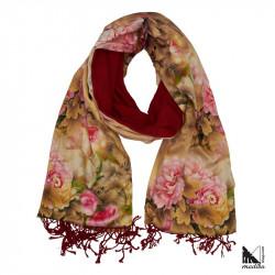 Seda 100% Molt suau- Mocador/Bufanda/Fulard càlid per a tardor i hivern