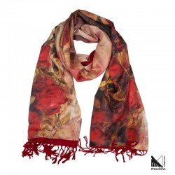 Silk 100% - Very soft and warm silk scarf/fleece for autumn and winter