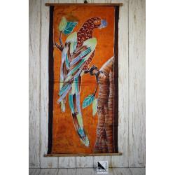 African art in batik - Parrot