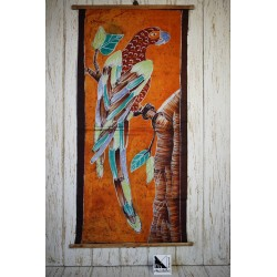 Arte africano en batik - Loro