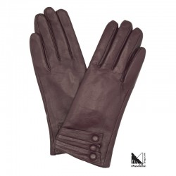 Leather gloves - buttons model