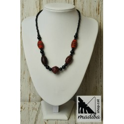 Red glass necklace - murano