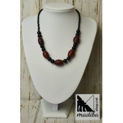 Collier verre rouge