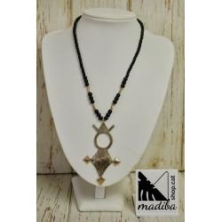Silver Agadez Tuareg cross necklace