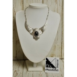 Fatima Hand Necklace with Onyx