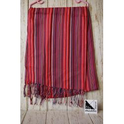 Foulard ethnique rougeâtre